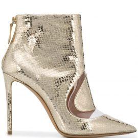 Nicholas Kirkwood metallic S ankle boots - Gold