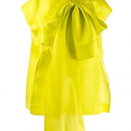 Nina Ricci oversized bow-embellished blouse - Green