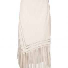 Nk leather Mestico Fay midi skirt - White