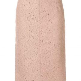 Nº21 lace midi pencil skirt - Neutrals