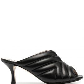 Nº21 quilted mid-heel mules - Black