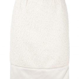 Nº21 textured midi pencil skirt - White