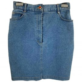 Non Signé / Unsigned N Blue Denim - Jeans Skirt for Women