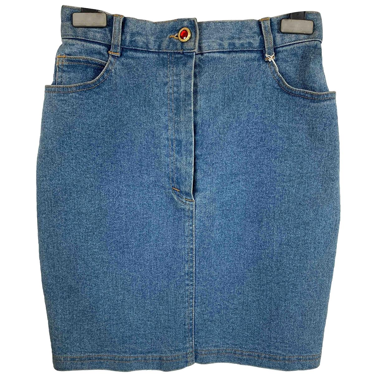 Non Signé / Unsigned N Blue Denim - Jeans Skirt for Women