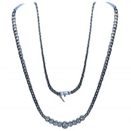 Non Signé / Unsigned N Silver White gold Necklace for Women