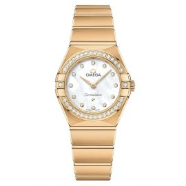 OMEGA Constellation Manhattan 18ct Gold Diamond Ladies Watch