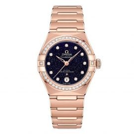 OMEGA Constellation Manhattan 18ct Rose Gold Diamond Automatic Ladies Watch