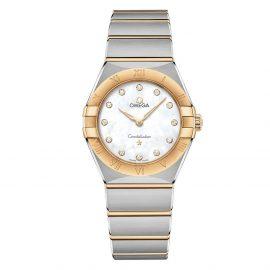 OMEGA Constellation Manhattan Steel and 18ct Gold Diamond Ladies Watch