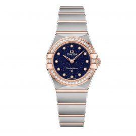 OMEGA Constellation Manhattan Steel and 18ct Sedna Gold Diamond Ladies Watch