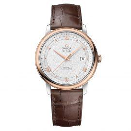 OMEGA De Ville Prestige Steel and 18ct Sedna Gold Automatic Chronometer Men's Watch