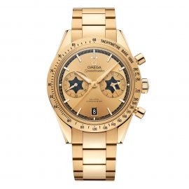 """OMEGA Speedmaster '57 """"Rory McIlroy"""" Special Edition 18ct Gold Co-Axial Chronometer Chronograph Men's Watch"""