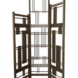 Oak 3-panel screen