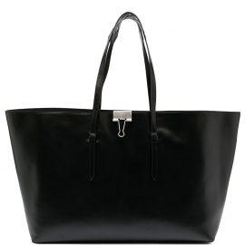 Off-White clip motif tote bag - Black