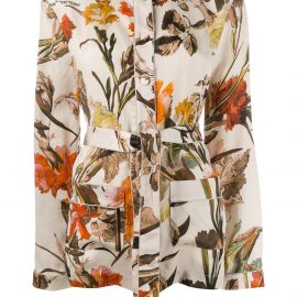Off-White floral-print pyjama style top - Neutrals