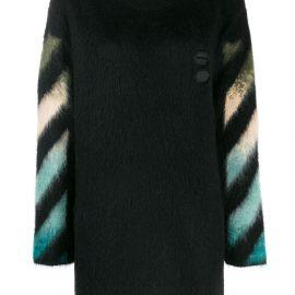 Off-White intarsia crew neck sweater - Black
