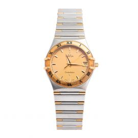 Omega 18K Yellow Gold & Stainless Steel Constellation 1212.10.00 Women's Wristwatch 33.5 mm, Gold