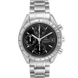 Omega Black Stainless Steel Speedmaster Date Automatic 3513.50.00 Men's Wristwatch 39 MM
