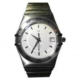 Omega Constellation Grey Steel Watch for Men