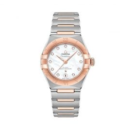 Omega Constellation Ladies Two Colour Diamond Bracelet Watch