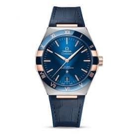 Omega Constellation Men's Blue Leather Strap Watch