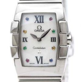 Omega Constellation Quartz Stainless Steel Women's Dress Watch 1584.79, White