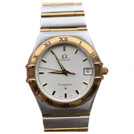 Omega Constellation White gold and steel Watch for Men