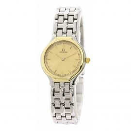 Omega De Ville Silver Gold plated Watch for Women