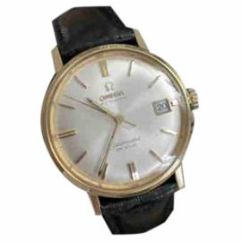Omega Seamaster Black Gold plated Watch for Women