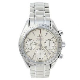 Omega Silver Stainless Steel Speedmaster 178.0068 Automatic Men's Wristwatch 39 mm, Silver