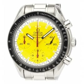 Omega Speedmaster Yellow Steel Watch for Men