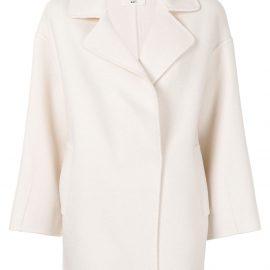 Onefifteen short wool coat - White