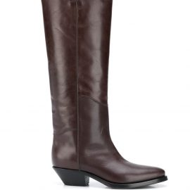 P.A.R.O.S.H. smooth cowboy-style boots - Brown