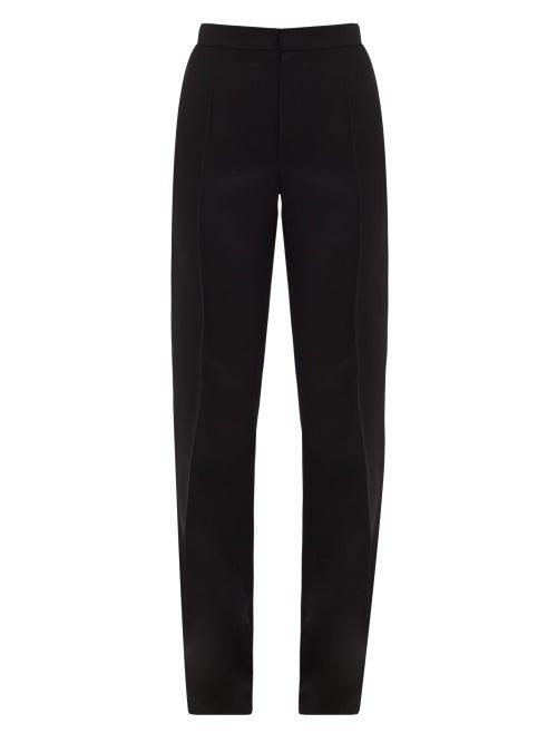 Pallas Paris - Gaumont Satin Side-striped Wool Tailored Trousers - Womens - Black