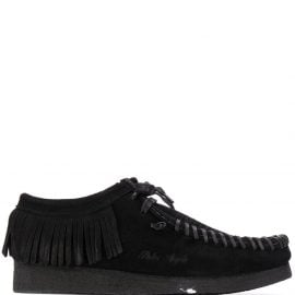 Palm Angels fringed lace-up shoes - Black