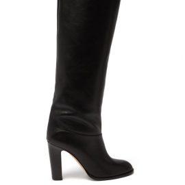 Paris Texas - Kiki Leather Knee-high Boots - Womens - Black