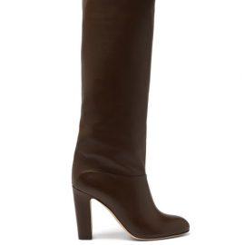 Paris Texas - Kiki Leather Knee-high Boots - Womens - Brown