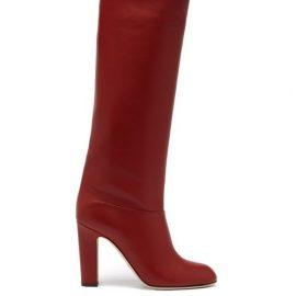Paris Texas - Kiki Leather Knee-high Boots - Womens - Red