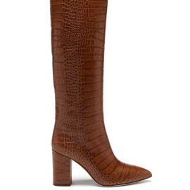 Paris Texas - Knee-high Crocodile-effect Leather Boots - Womens - Brown