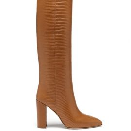 Paris Texas - Knee-high Lizard-effect Leather Boots - Womens - Tan