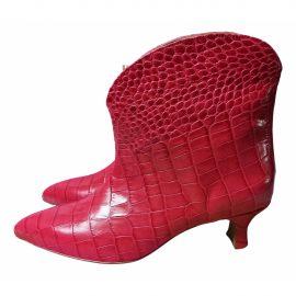 Paris Texas Leather biker boots