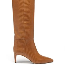 Paris Texas - Lizard-effect Leather Knee-high Boots - Womens - Tan