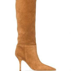 Paris Texas Mama 95mm knee-high boots - Neutrals