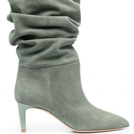 Paris Texas slouched suede boots - Green