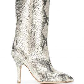 Paris Texas snake-effect boots - GOLD