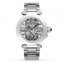 Pasha De Cartier Watch 41mm, Automatic Movement, Steel, Interchangeable Metal And Leather Straps