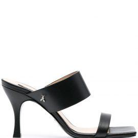 Patrizia Pepe double-strap heeled mules - Black