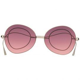 Percy Lau oversize-lense sunglasses with circular arm detail - Purple