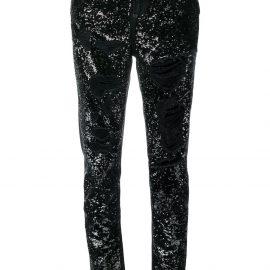 Philipp Plein Boyfriend Paillettes jeans - Black