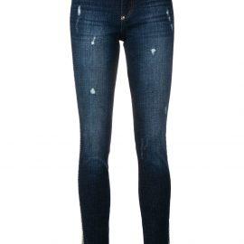 Philipp Plein crystal trim skinny jeans - Blue