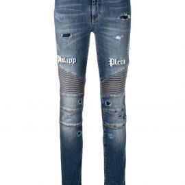 Philipp Plein distressed skinny jeans - Blue